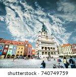 poznan  poland   august 21  the ... | Shutterstock . vector #740749759