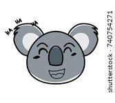koala cartoon | Shutterstock .eps vector #740754271
