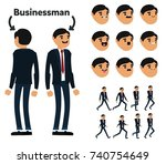 character is a businessman. the ...   Shutterstock .eps vector #740754649