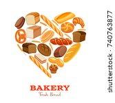 vector illustration bread... | Shutterstock .eps vector #740763877