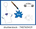 learn the colors  kids are...   Shutterstock .eps vector #740765419
