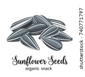 vector sunflower seeds in... | Shutterstock .eps vector #740771797