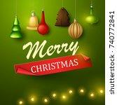 christmas background. vector... | Shutterstock .eps vector #740772841