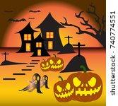 halloween   Shutterstock .eps vector #740774551