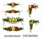 christmas elements for your... | Shutterstock .eps vector #740784985