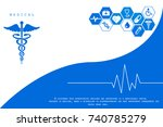 2d illustration health care and ... | Shutterstock . vector #740785279