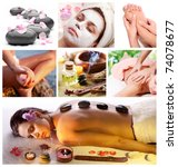 collection of spa treatments... | Shutterstock . vector #74078677