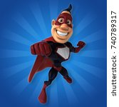 fun superhero   3d illustration | Shutterstock . vector #740789317