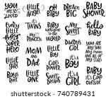 set of lettering quotes for... | Shutterstock .eps vector #740789431