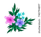 abstract floral compostion... | Shutterstock .eps vector #740794897
