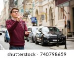 augmented reality in marketing. ... | Shutterstock . vector #740798659