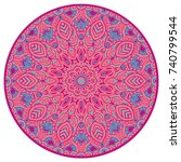 vector round abstract circle.... | Shutterstock .eps vector #740799544