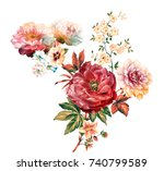 flowers are full of romance ... | Shutterstock . vector #740799589