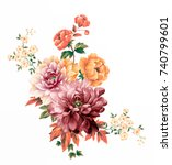 Stock photo flowers are full of romance the leaves and flowers art design 740799601
