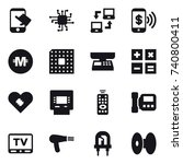16 vector icon set   touch ...   Shutterstock .eps vector #740800411