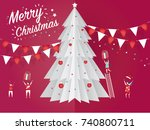 christmas card concept and... | Shutterstock .eps vector #740800711