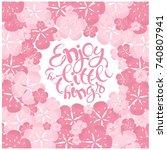 typography banner lettering... | Shutterstock .eps vector #740807941