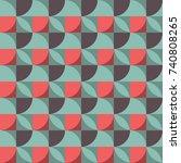 geometric seamless pattern... | Shutterstock .eps vector #740808265