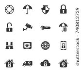 security vector icons for your...   Shutterstock .eps vector #740812729
