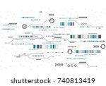 vector digital technology... | Shutterstock .eps vector #740813419