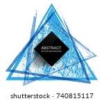grunge triangle background.... | Shutterstock .eps vector #740815117
