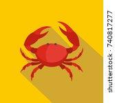 crab icon. flat illustration of ... | Shutterstock .eps vector #740817277