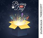 boxing day. winter sale. open... | Shutterstock .eps vector #740823397
