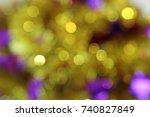 golden and purple defocused... | Shutterstock . vector #740827849