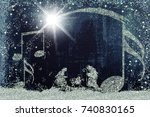 christmas  greetings cards ...   Shutterstock . vector #740830165