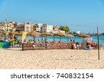 mondello   palermo  sicily ... | Shutterstock . vector #740832154