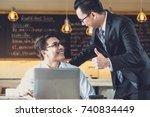 great job  manager   boss... | Shutterstock . vector #740834449