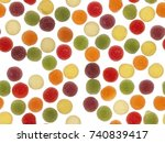 colorful jelly sugar candies... | Shutterstock . vector #740839417