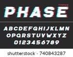 vector decorative futuristic... | Shutterstock .eps vector #740843287