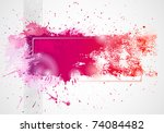 background drawing by brush | Shutterstock .eps vector #74084482