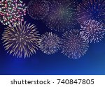 set of bright colorful... | Shutterstock .eps vector #740847805