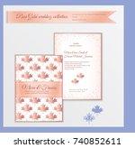 luxury wedding invitation... | Shutterstock .eps vector #740852611