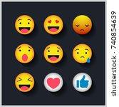 emotion  | Shutterstock .eps vector #740854639