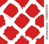 hand drawn seamless pattern... | Shutterstock .eps vector #740855545