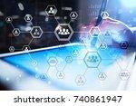 organisation structure chart ...   Shutterstock . vector #740861947