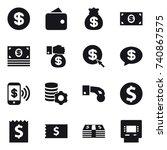 16 vector icon set   dollar ... | Shutterstock .eps vector #740867575