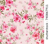 watercolor seamless pattern of...   Shutterstock . vector #740867911