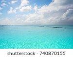 isla mujeres island caribbean... | Shutterstock . vector #740870155