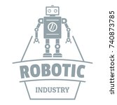 robot future logo. simple... | Shutterstock .eps vector #740873785