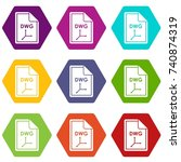 file dwg icon set many color...