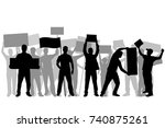 manifestation   a group of... | Shutterstock .eps vector #740875261