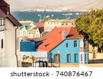 panoramic aerial view of...   Shutterstock . vector #740876467