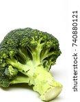 studio shot organic broccoli... | Shutterstock . vector #740880121
