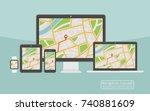 concept of responsive...   Shutterstock . vector #740881609