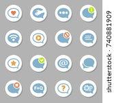 modern speech bubbles set for...