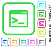 command prompt vivid colored... | Shutterstock .eps vector #740882089